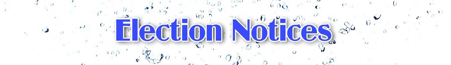 Election Notices | Galveston County Water Control And Improvement No. 1